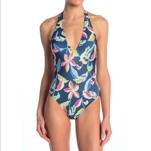 Splendid Tropical Traveler Halter Neck Swimsuit